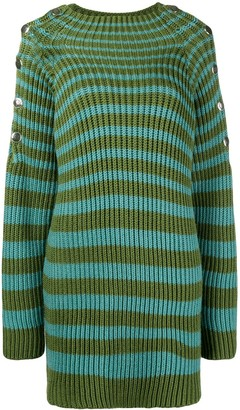 Alberta Ferretti Ribbed Striped Jumper