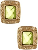 Rivka Friedman Faceted Peridot Crystal Stud Earrings