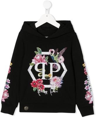 Philipp Plein Crystal Flowers Hoodie