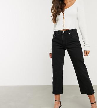ASOS DESIGN Petite High rise 'effortless' stretch kick flare jeans in black