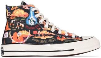 Converse Chuck 70 Twisted Resort high top desert print sneakers
