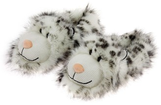Aroma Home Shoes Unisex Adults' Snow Leopard Open Back Slippers