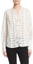 Sea Women's Embroidered Lace Cotton Top