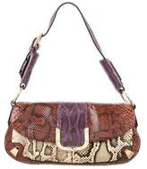 Dolce & Gabbana Tricolor Snakeskin Shoulder Bag