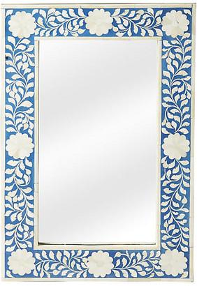 "One Kings Lane Elisabeth 16""x24"" Wall Mirror - Blue/Ivory"