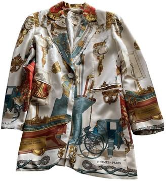 Hermes Ecru Silk Jacket for Women Vintage