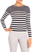 Yumi Embellished Stripe Print Sweater