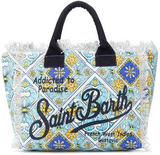MC2 Saint Barth Graphic Logo Print Beach Bag