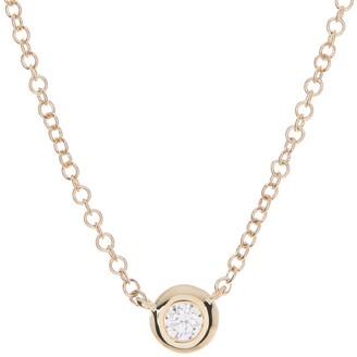 Ron Hami 14K Yellow Gold Bezel Diamond Pendant Necklace - 0.05 ctw