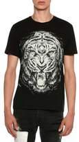 Just Cavalli Lion Face Jersey T-Shirt