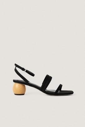 NA-KD Wooden Heel Sandals