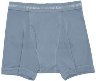 Calvin Klein Underwear Three-Pack Blue Cotton Boxer Briefs
