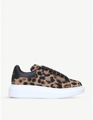 Alexander McQueen Runway leopard-print platform trainers