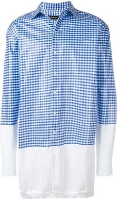 Y/Project Oversized Stripe Panel Shirt