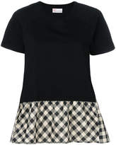 RED Valentino checked flared T-shirt