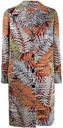 Missoni Jungle-Pattern Single-Breasted Coat