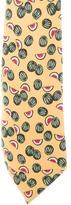 Hermes Watermelon Print Silk Tie