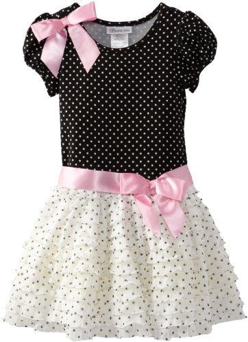 Bonnie Jean Girls 2-6X Eyelash Dot Dropwaist Dress
