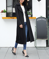 Black Long Trench Coat - Plus Too