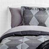 Black Diamond Royal Linens Comforter and Striped Sheet Set