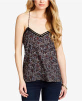 Jessica Simpson Juniors' Printed Strappy Crochet Cami