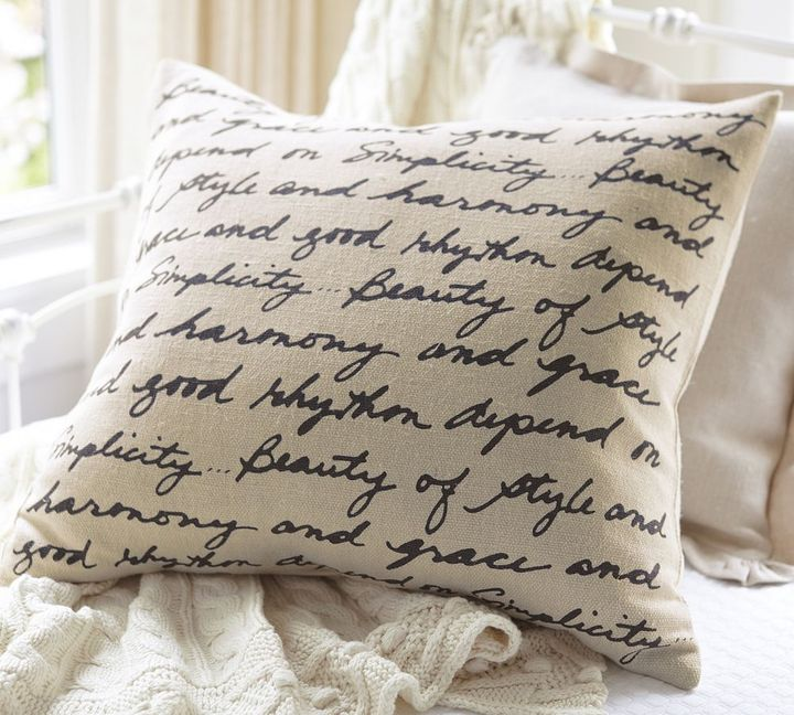 Pottery Barn Beauty of Style Pillow Cover
