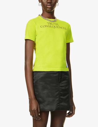 McQ Genesis II embroidered cotton-jersey T-shirt