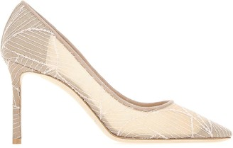 Jimmy Choo Romy Embroidered Stiletto Pumps