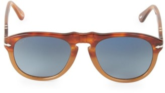 Persol 52MM Browline Rounded Square Sunglasses