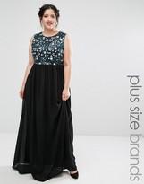 Club L Plus Maxi Dress With Floral Sequin Top
