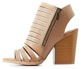 Charlotte Russe Strappy Peep Toe Booties