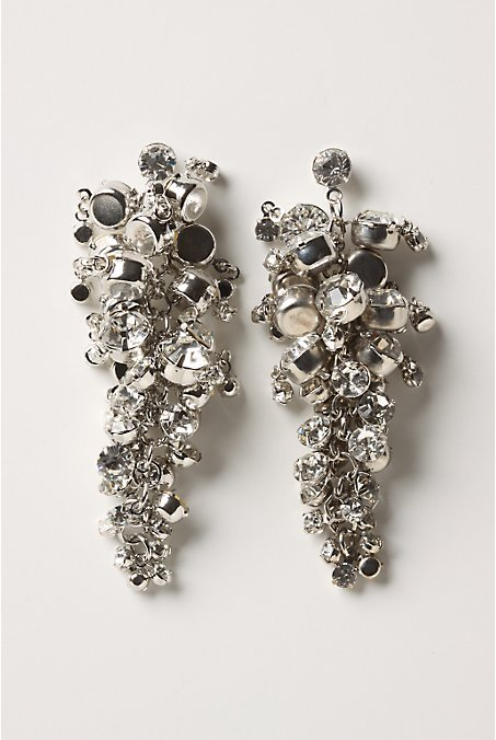 Anthropologie Currant Cluster Earrings