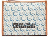 Connolly - Leather-trimmed Printed Canvas Pouch - Womens - Blue Multi