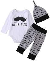 Mefarla Newborn Baby Girl Boy Tops Romper Long Pants Legging Hat Outfit Set Clothes (9-12 Months)