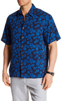 Toscano Short Sleeve Silk Print Regular Fit Shirt