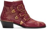 Chloé Red Susanna Boots