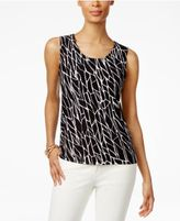 JM Collection Jacquard Sleeveless Top, Only at Macy's