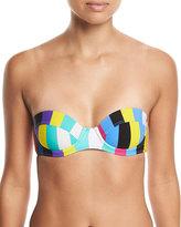 Diane von Furstenberg Printed Constructed Bandeau Swim Top