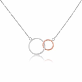 Auree Jewellery Kelso Silver and Rose Gold Rings Necklace