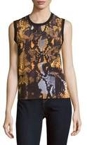 McQ by Alexander McQueen Printed Sleeveless Cotton Top