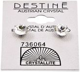Crystallite Destine Austrian Crystal Diamond Cut Post Earrings