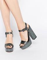 Asos HIT THE JACKPOT Platform Heeled Sandals