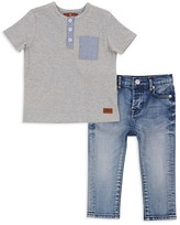 7 For All Mankind Boys' Henley & Jeans Set - Little Kid