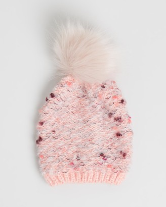 Morgan & Taylor Girl's Pink Beanies - Prue Mini Beanie - Size One Size at The Iconic