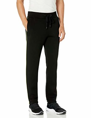 True Religion Men's Neon Stripe Straight Leg Jogger Sweatpant