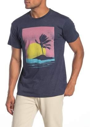 Body Rags Short Sleeve Palm Island Sunset Graphic T-Shirt