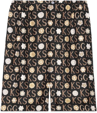 Gucci Ken Scott x print silk shorts