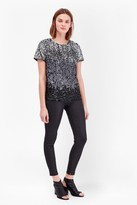 French Connection Sunbeamer Sequin T-Shirt Top