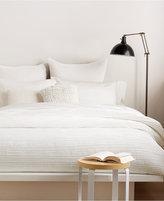 "DKNY City Pleat White 12"" x 16"" Decorative Pillow"