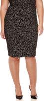 Liz Claiborne Slim Textured Pencil Skirt - Plus